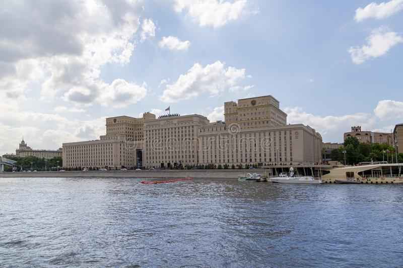 Main Building of the Ministry of Defence of the Russian Federation Minoboron, Moscow, Russia royalty free stock images