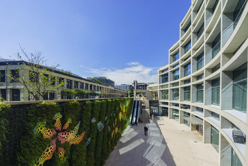 Main building of Songshan Cultural and Creative Park area stock photos