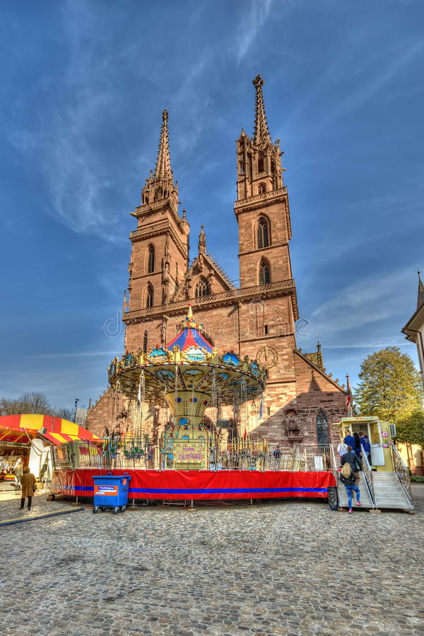 Main cathedral of Basel. Switzerland royalty free stock images