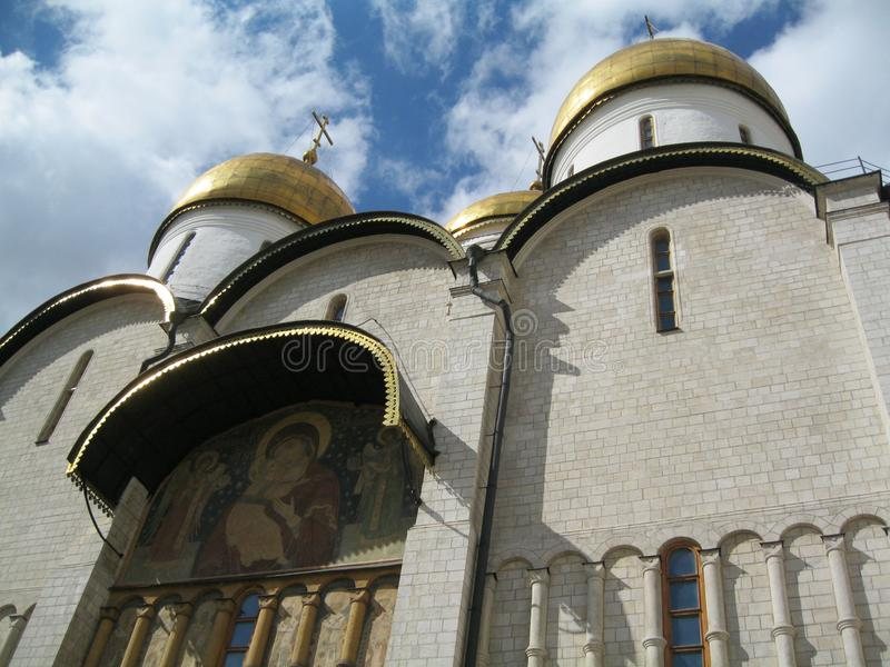 Uspensky Cathedral built in the 15th century, on the territory of the Moscow Kremlin stock photo