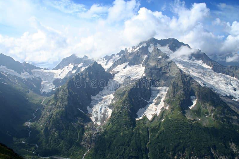 Main Caucasus range. Dombai, Caucasus, Russia royalty free stock photo