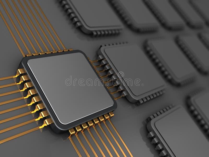 Main chip on board vector illustration