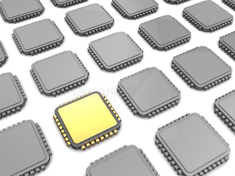 Main chip stock illustration