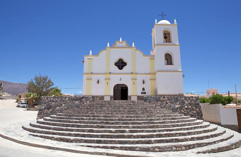 Main church at Angastaco, Argentina. Angastaco is a town in San Carlos Department, Salta Province, in Calchaqui Valley royalty free stock photography