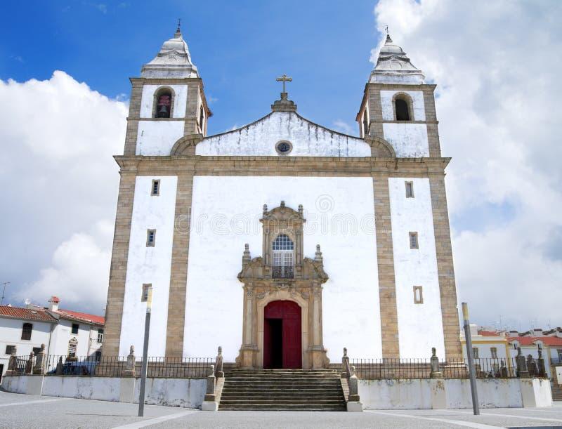 Main church of Castelo de Vide stock images