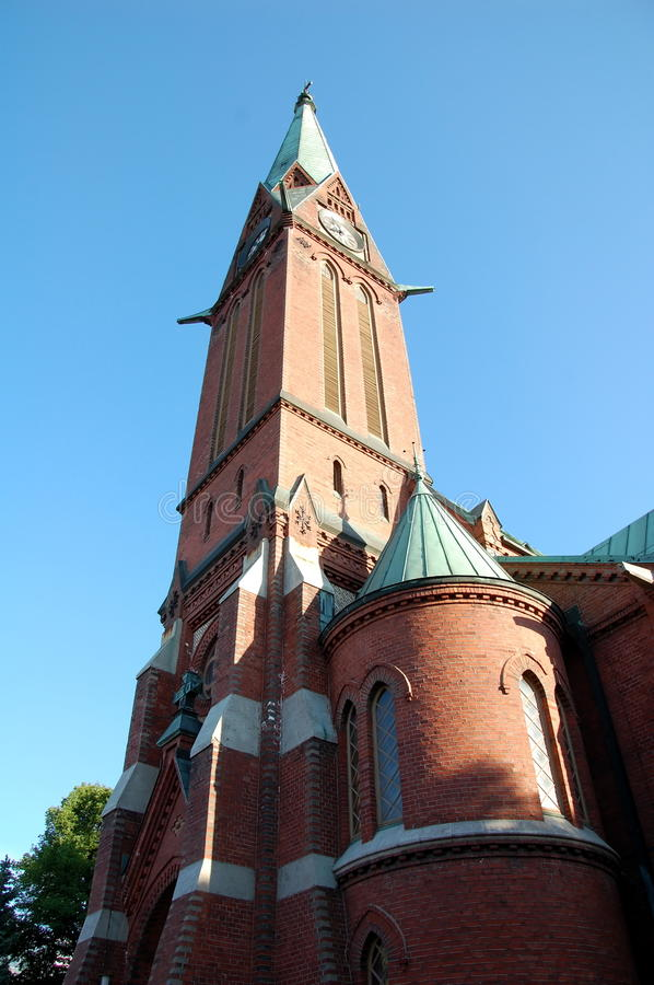 The main church of the city of Kotka stock photography