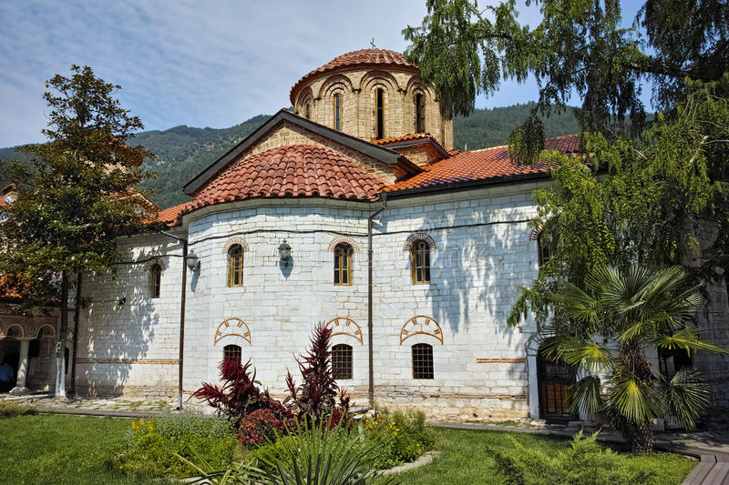 Main church in Medieval Bachkovo Monastery. Bulgaria royalty free stock images