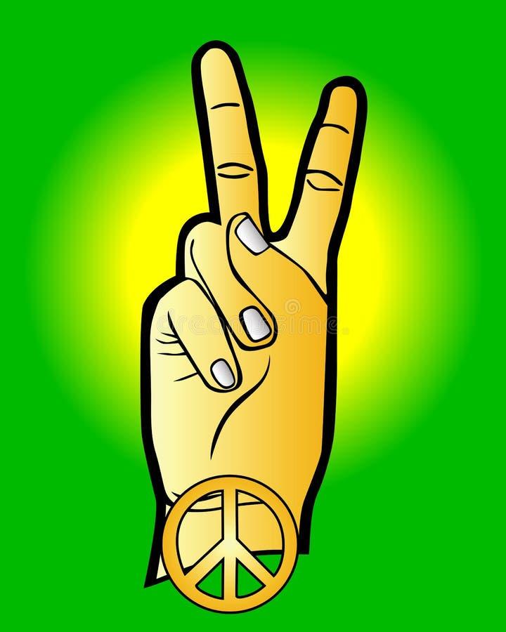 Main comme symbole de paix illustration de vecteur