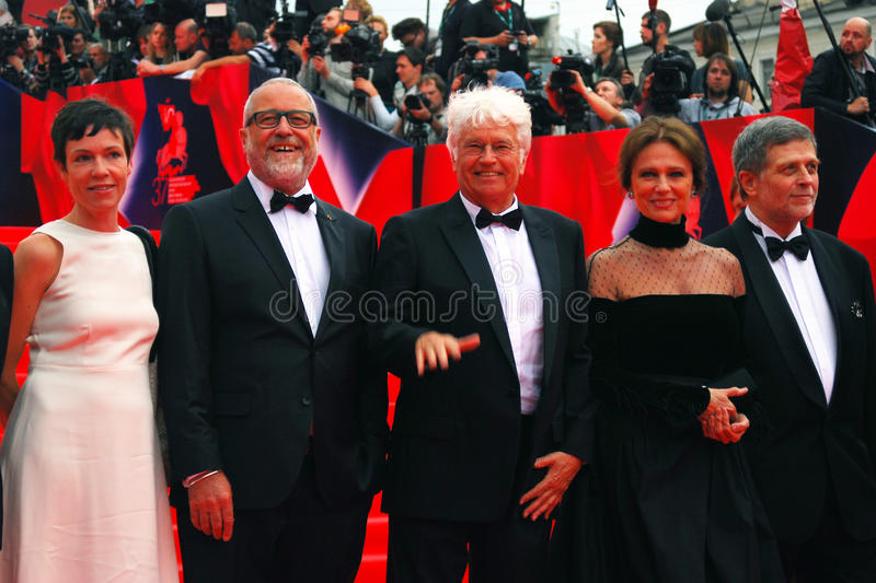 Main competition jury members of Moscow Film Festival stock photos