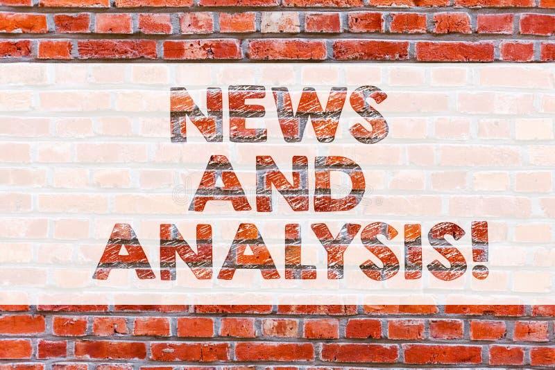 Main conceptuelle écrivant montrant des nouvelles et l'analyse Mesure de présentation de photo d'affaires de divers qualitatif et images stock