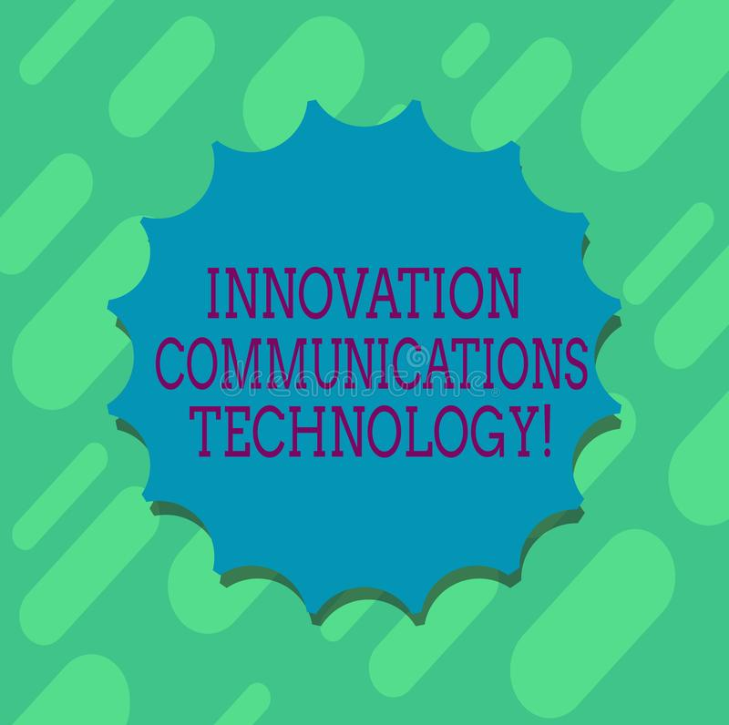 Main conceptuelle écrivant montrant la technologie des communications d'innovation Amélioration des textes de photo d'affaires da illustration de vecteur