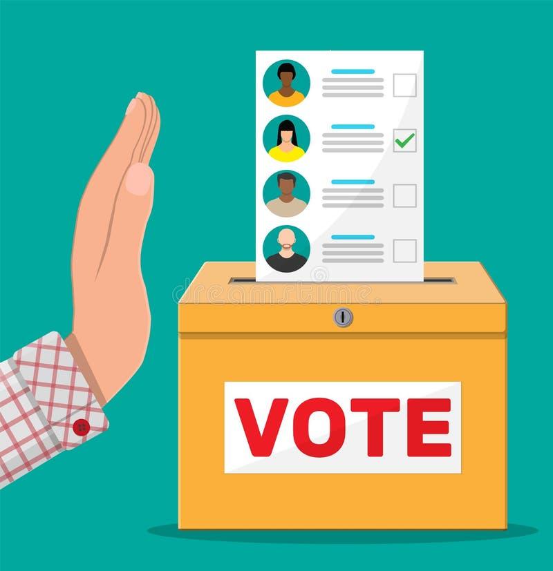 Main contre le vote illustration libre de droits
