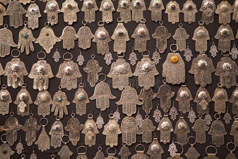 Main d'amulettes formée par paume de Fatima image stock