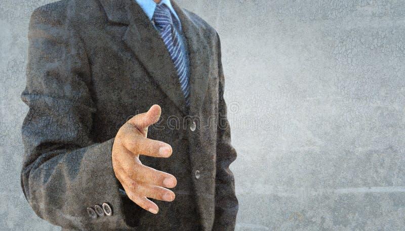 Main d'homme d'affaires à secouer illustration de vecteur