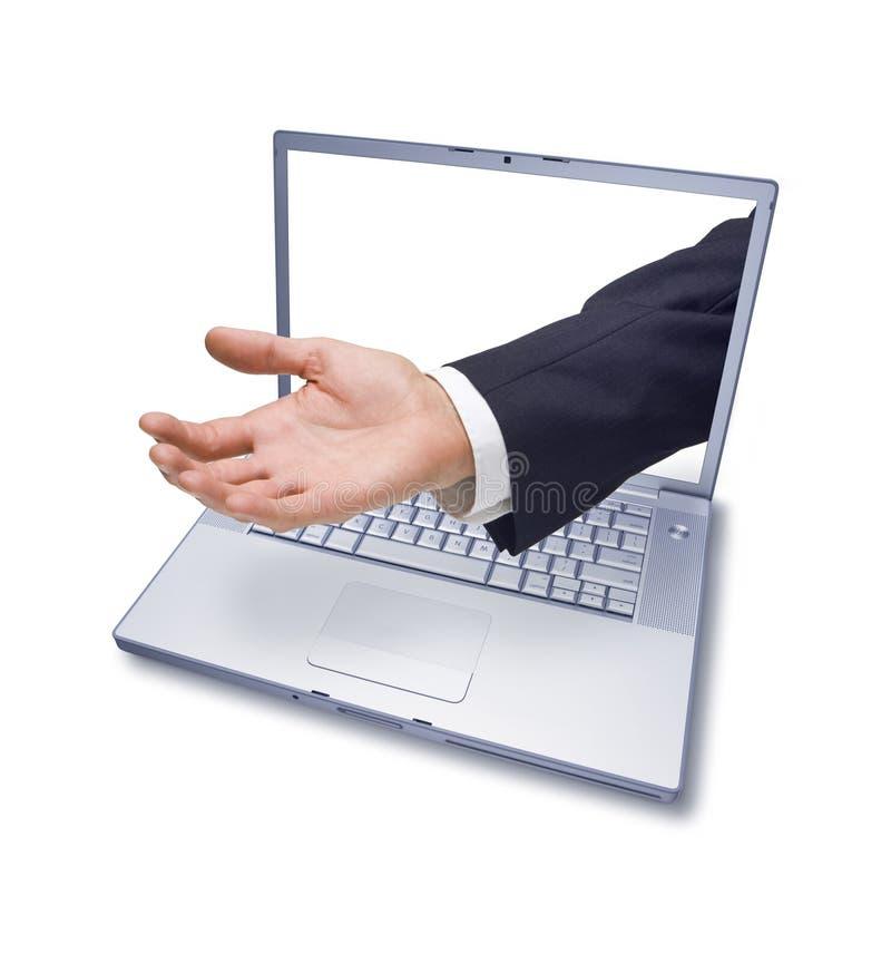 main d'ordinateur de charité d'affaires photographie stock libre de droits