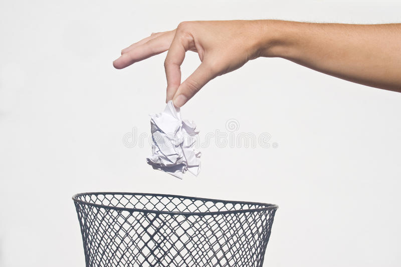 main d'ordures photos libres de droits
