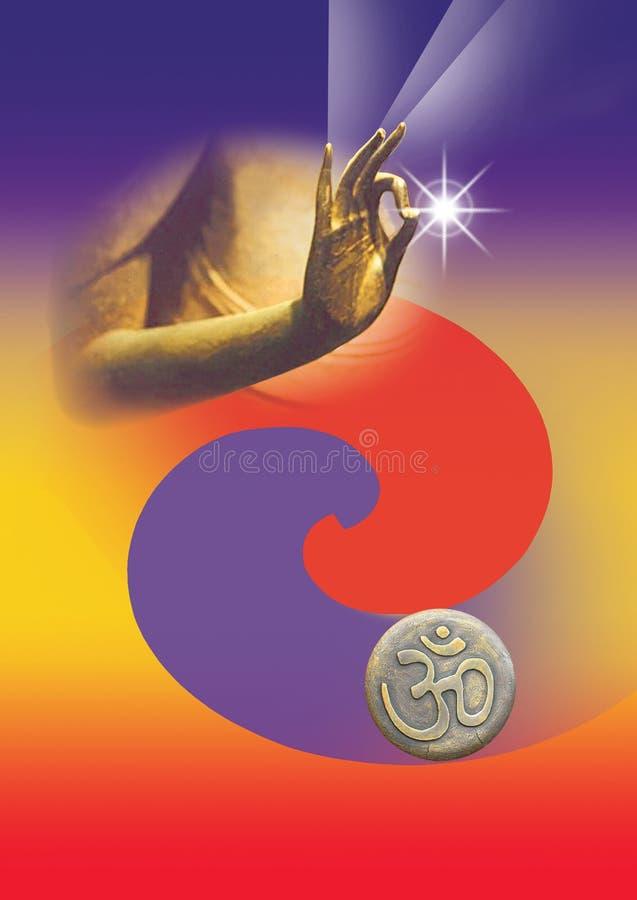 Main de Bouddha illustration libre de droits