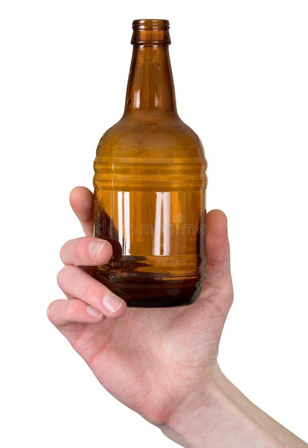 Download Main de bouteille photo stock. Image du bouteille, brun - 8656078
