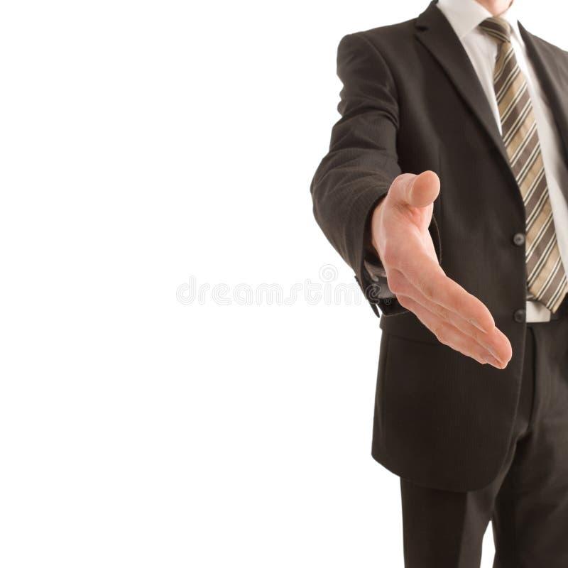 main de copie d'affaires que son homme de fixation à l'extérieur espacent images libres de droits