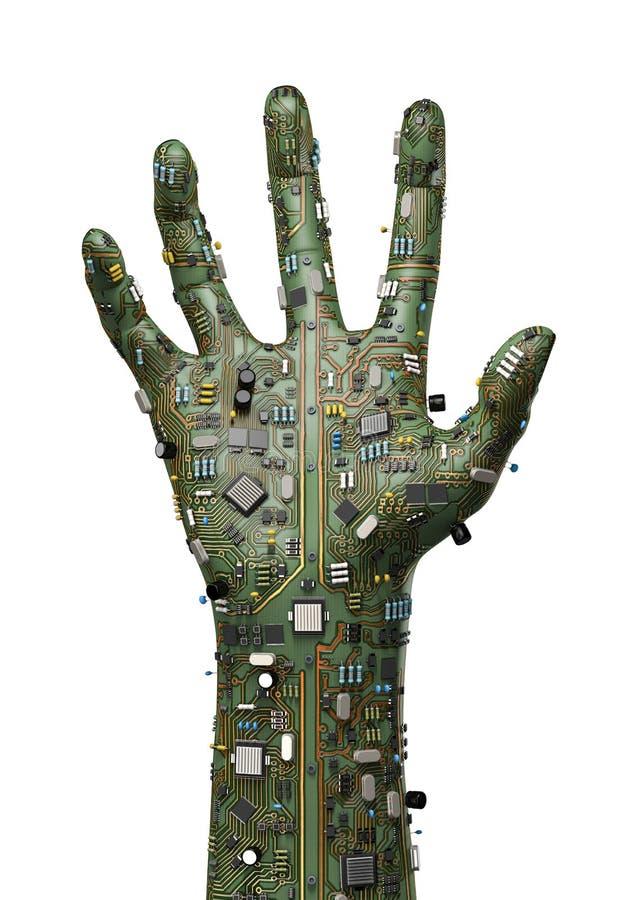 Main de données illustration de vecteur