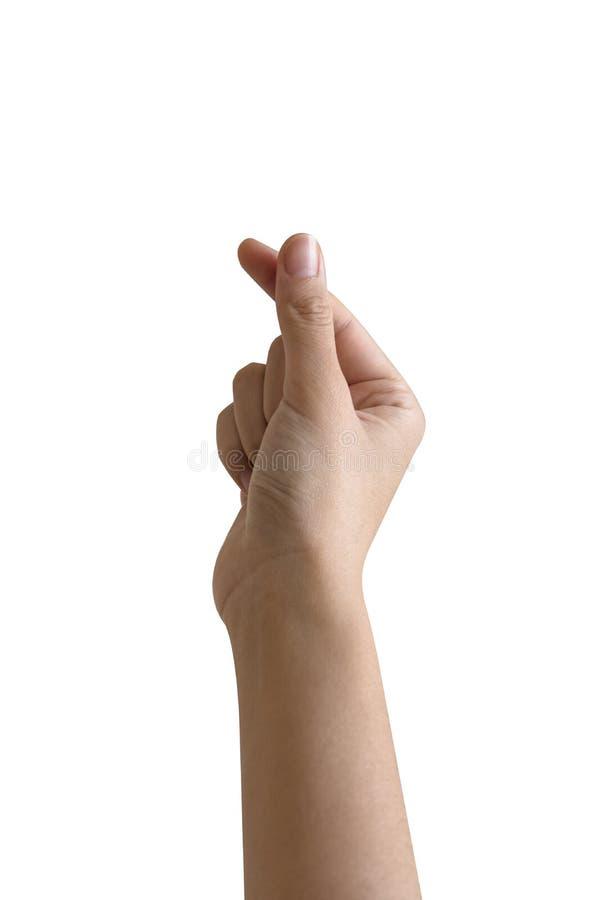main de femme tenant un objet photo stock