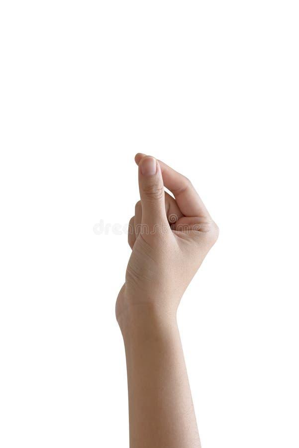 main de femme tenant un objet photo libre de droits