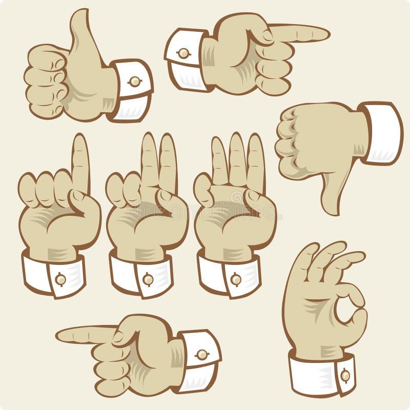 main de gestes illustration de vecteur
