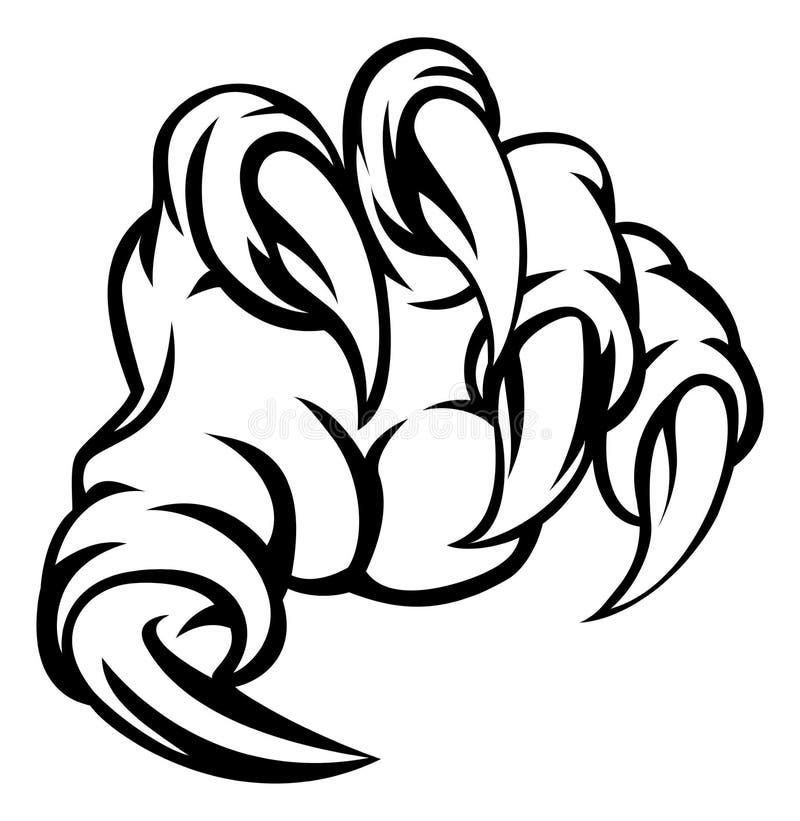 Main de griffe de monstre illustration libre de droits