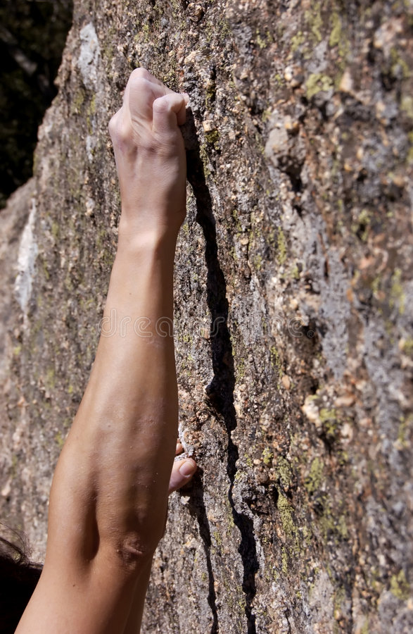 main de grimpeur image stock