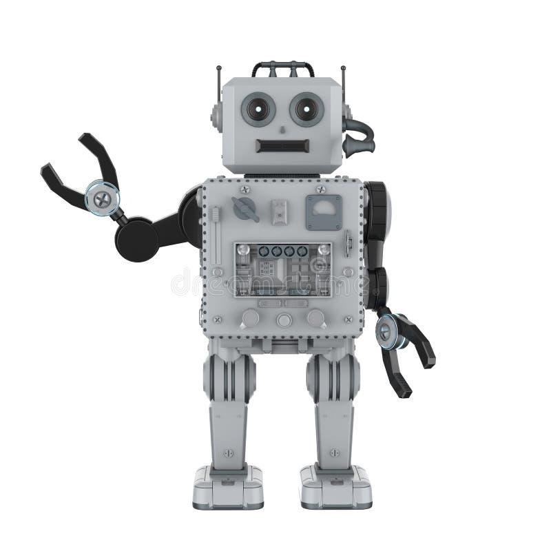 Main de jouet de bidon de robot  illustration de vecteur