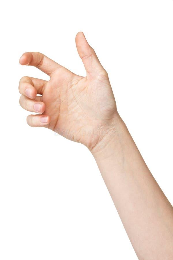 Main de l'adolescence femelle pour retenir l'instrument image stock