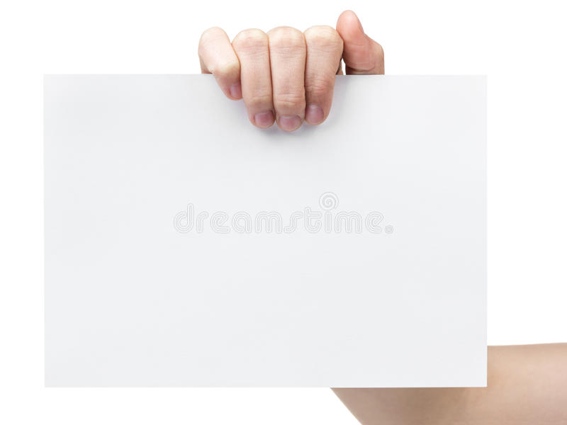 Main de l'adolescence femelle tenant la feuille de grand papier image libre de droits