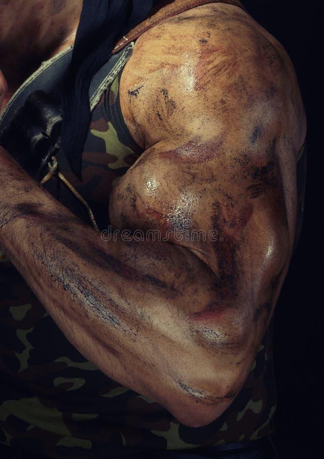 Main de l'homme intense photos libres de droits