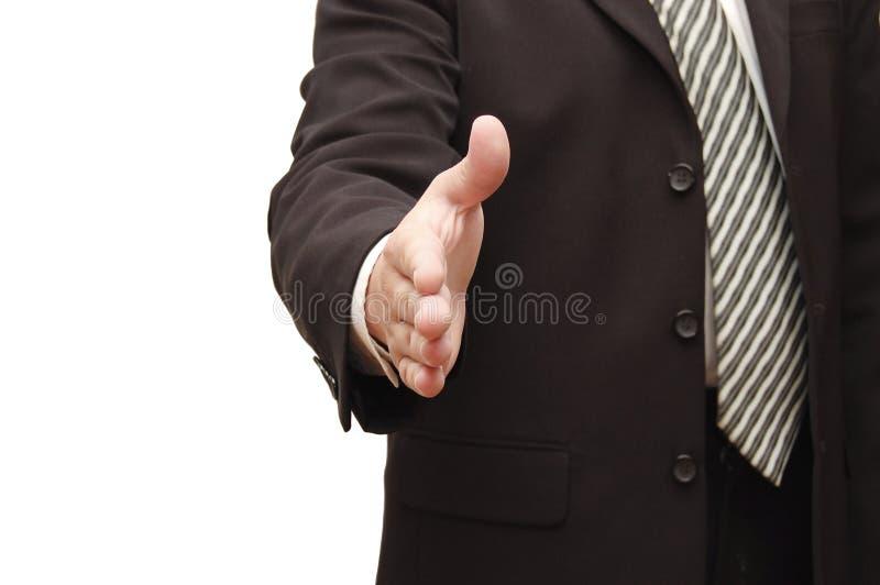 Main de l'homme prête pour la prise de contact image stock