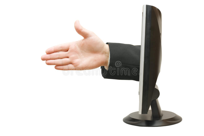 Main de l'homme prête pour la prise de contact image libre de droits