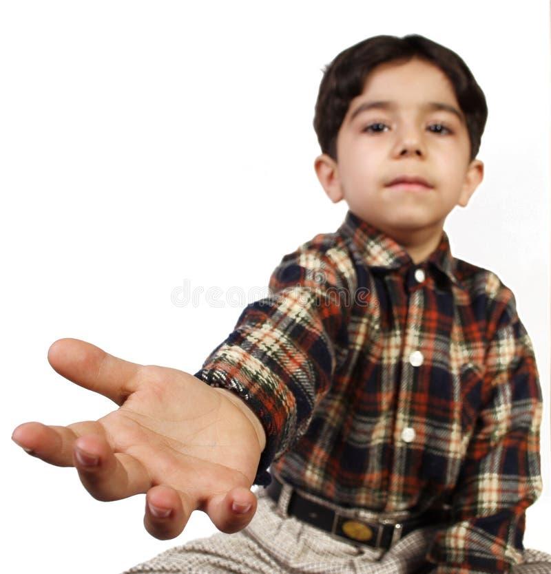 MAIN DE LITTLE BOY images libres de droits