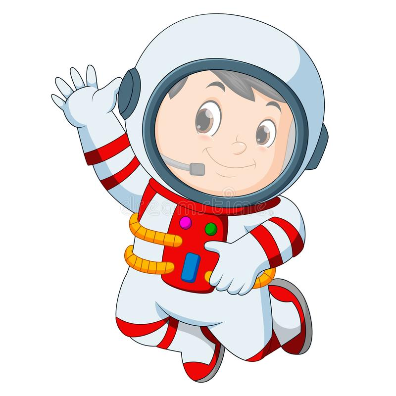 Main de ondulation d'équipement d'astronaute illustration de vecteur