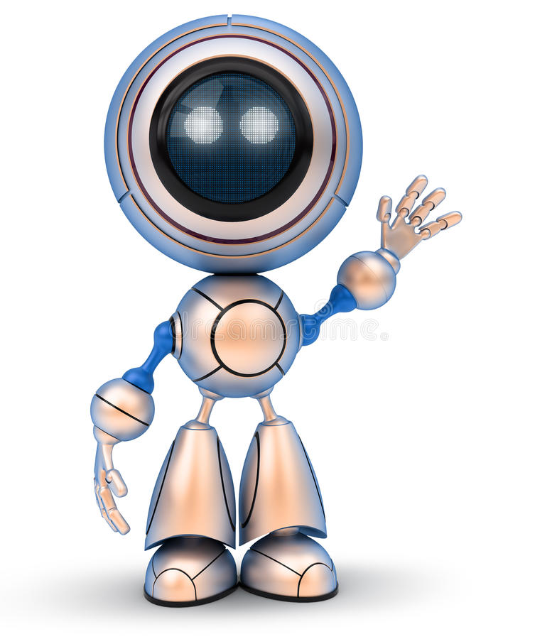 Main de ondulation de robot illustration de vecteur