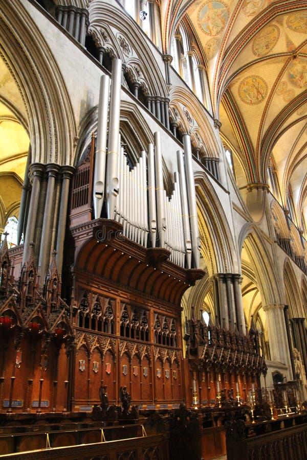 Main de papier de cathédrale de Salisbury image libre de droits