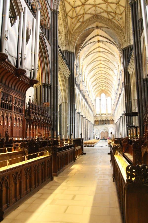 Main de papier de cathédrale de Salisbury images libres de droits