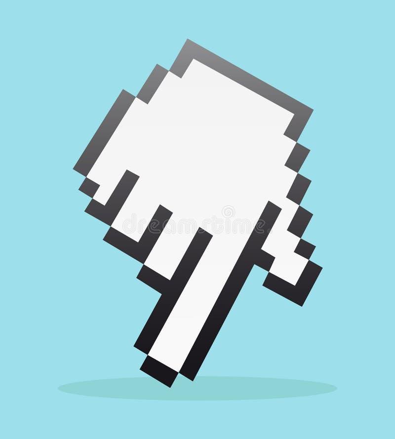 Main de Pixel illustration de vecteur