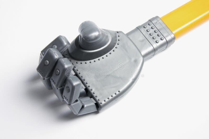 Main de robot de jouet image libre de droits