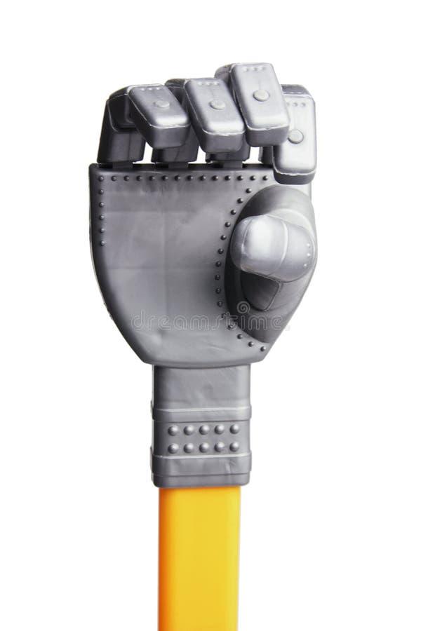 Main de robot de jouet photos stock