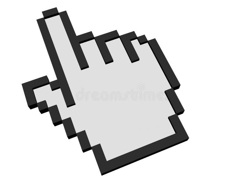 Main de souris de curseur illustration de vecteur