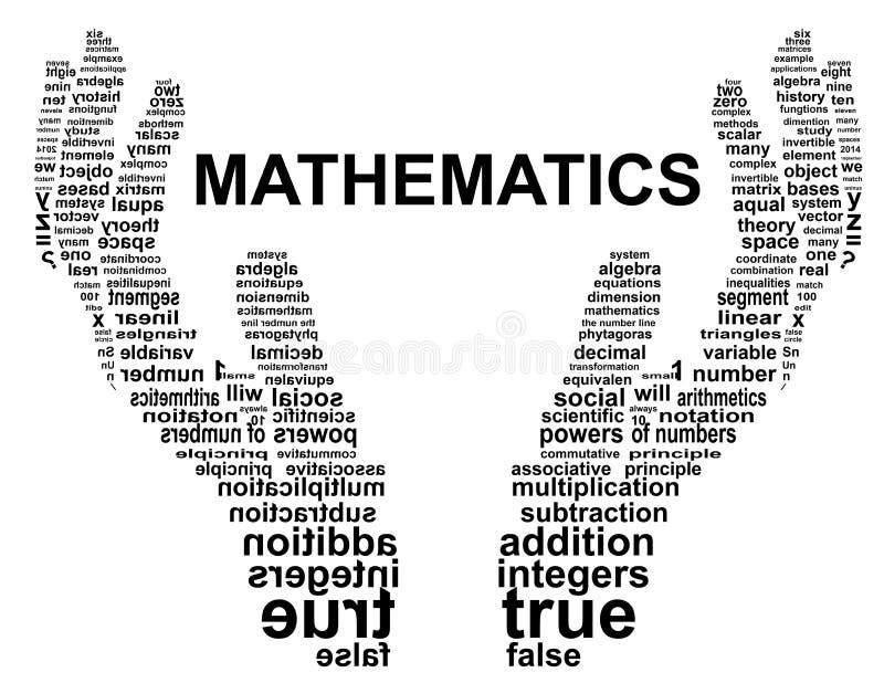 Main de typographie de mathématiques illustration stock