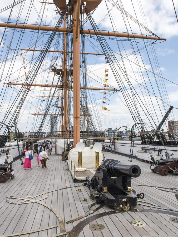 Download Main Deck And Forward Gun - HMS Warrior Editorial Photography - Image: 34133222