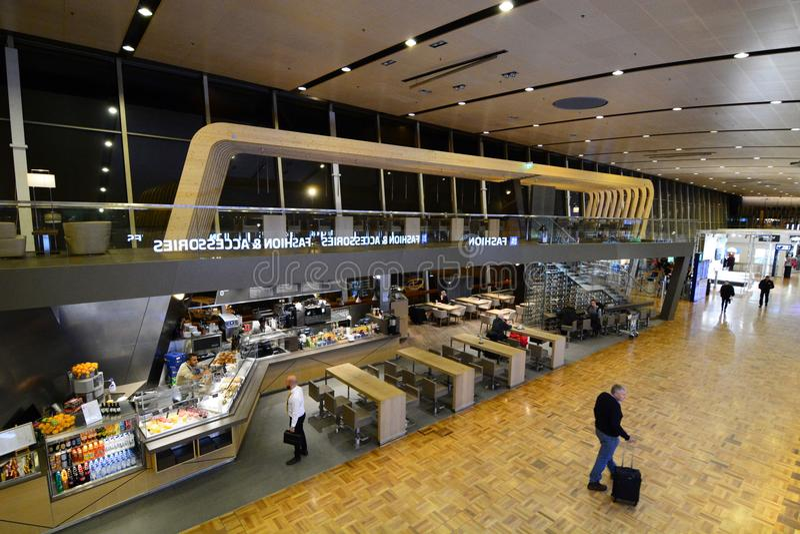 Main departure hall. Vantaa airport. Helsinki. Finland royalty free stock images