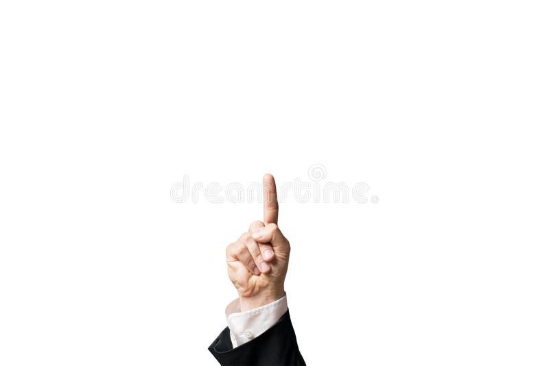 Main dirigeant son doigt  photographie stock