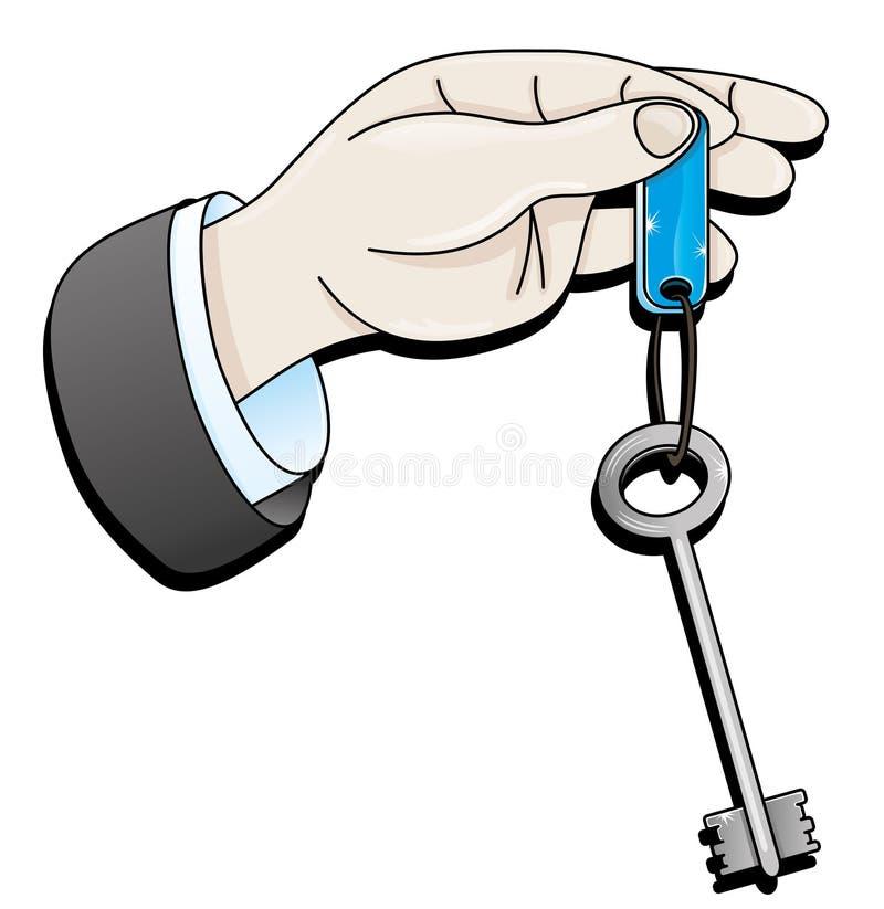 Main donnant la clé illustration de vecteur