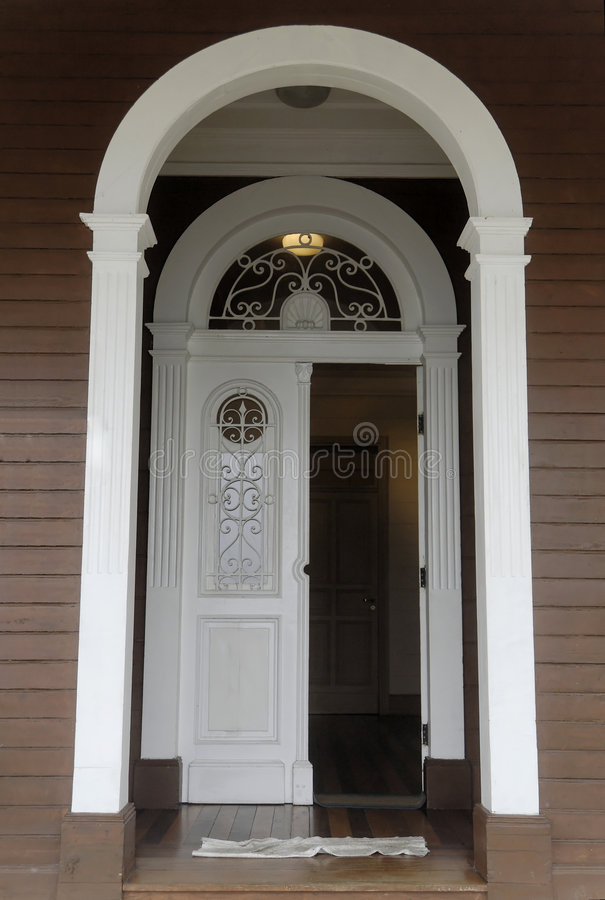 Main Door of a Mansion royalty free stock image